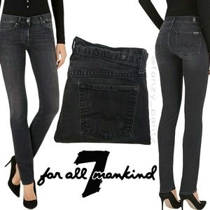 7 for All Mankind Roxy Skinny Jeans 28 black 7FAM